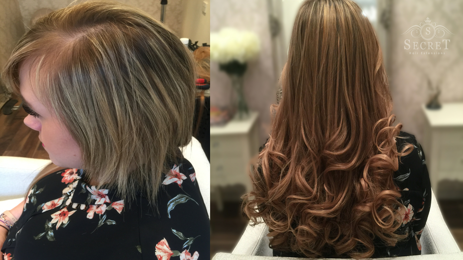 Celebrity hair extensions before and after