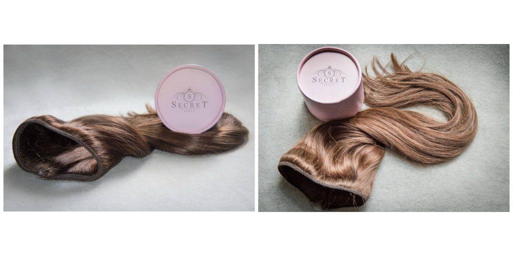 The Secret flip in hair extensions