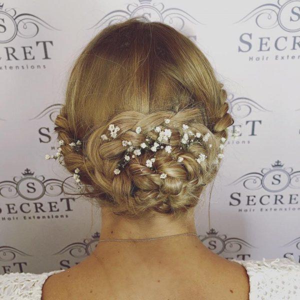 clip in hair extensions bridal hair