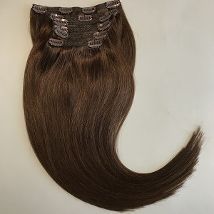 Clip In Remy Hair Extensions Brown 6