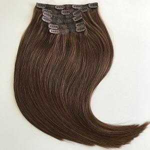 Clip In Remy Hair Extensions Chocolate Brown 4
