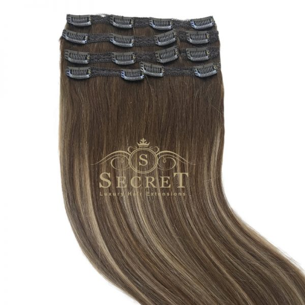 Mocha Melt Clip In Hair Extensions