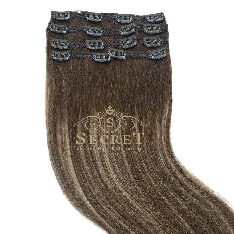 Mocha Melt Clip In Hair Extensions