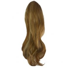 Synthetic Clip In Ponytail Mixed Blonde