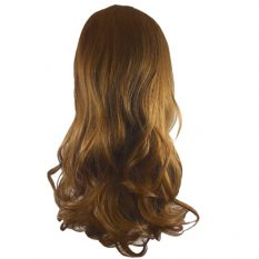synthetic hair piece medium brown