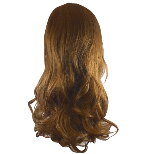 synthetic hair piece medium brown